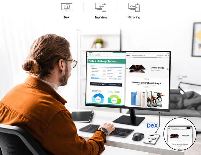 mobile connectivity desktop monitors samsung new monitor in kuwait
