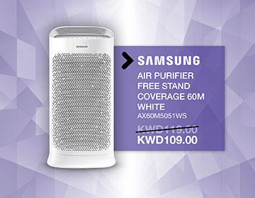 Samsung AX60M5051WS Air Purifier with Virus Doctor, 60 m²