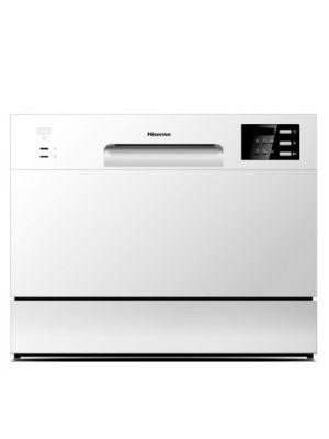 Hisense Table Top Dishwasher, 6 plate white (H6DWH)